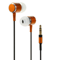Слушалки марка Wallytech с алуминиев корпус - цвят оранжев