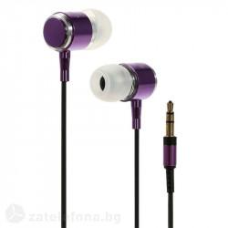 Слушалки марка Wallytech с алуминиев корпус - цвят лилав