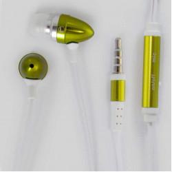 Метални handsfree слушалки тип тапа за iPhone, iPad и iPod – цвят зелен