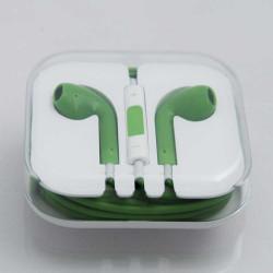 Асиметрични handfree слушалки за iPhone, iPad и iPod – цвят зелен