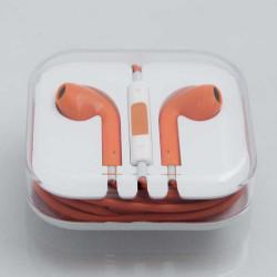 Асиметрични handfree слушалки за iPhone, iPad и iPod – цвят оранжев
