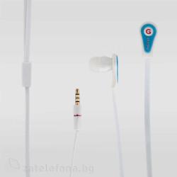 Handsfree слушалки с плосък кабел марка Genipu – цвят светло син