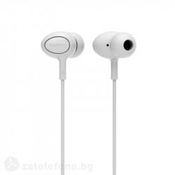 Гумирани handsfree слушалки марка Remax - цвят бял