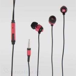Метални handsfree слушалки – цвят червен