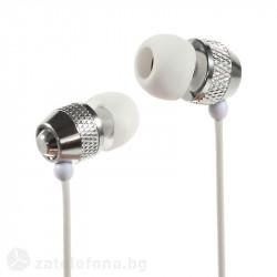 Метални слушалки марка Wallytech – цвят бял
