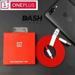 Плосък кабел тип USB към USB Type-C марка ONEPLUS модел DASH дължина 1.5м – цвят червен