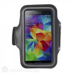 Спортна лента за ръка от неопрен за телефон с размери до 144x80мм – цвят черен