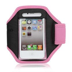 Спортна лента за ръка от неопрен за телефон с размери до 124x60 – цвят розов