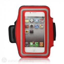 Спортна лента за ръка от неопрен за телефон с размери до 126x67 – цвят червен