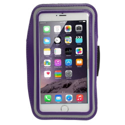 Спортна лента за ръка от неопрен за телефон с размери до 155x85 – цвят лилав