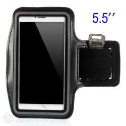 Спортна лента за ръка от неопрен за телефон с размери до 155x85 – цвят черен