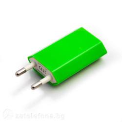 Универсално зарядно с USB изход – цвят зелен