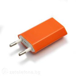 Универсално зарядно с USB изход – цвят оранжев