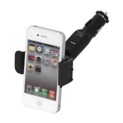 2 в 1 стойка и зарядно за кола за телефон с пружинен механизъм