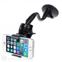 Стойка за кола за телефон с метално рамо тип щипка