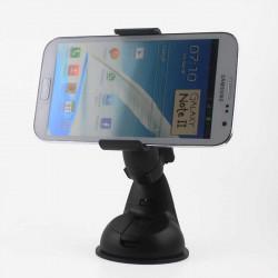 Асиметрична универсална стойка за кола за телефон тип щипка - цвят черен