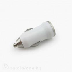 Зарядно за кола с USB изход - цвят бял
