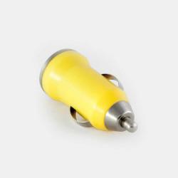 Зарядно за кола с USB изход - цвят жълт