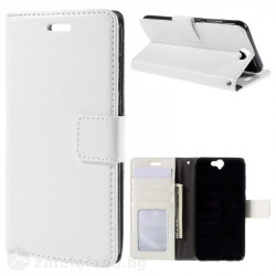 Кожен калъф тип портмоне за HTC One A9 - бял