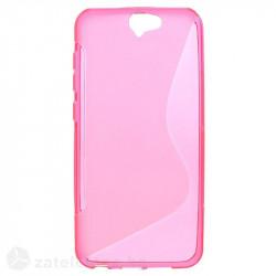 Силиконов калъф за HTC One A9 със S-образен дизайн  - ярко розов