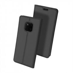 Тънък калъф страничен flip марка DUX DUCIS за Huawei Mate 20 Pro – тъмно сив