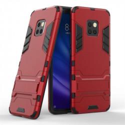 Хибриден гръб със стойка за Huawei Mate 20 Pro - червен
