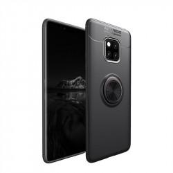 Силиконов гръб със стойка за Huawei Mate 20 Pro - черен