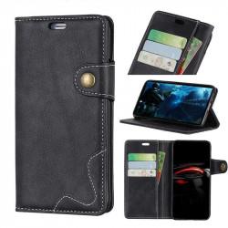 Кожен калъф тип портмоне за Huawei Mate 20 Pro - черен