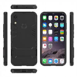 Хибриден гръб със стойка за Huawei Y6 2019 - черен