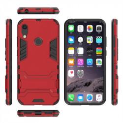 Хибриден гръб със стойка за Huawei Y6 2019 - червен