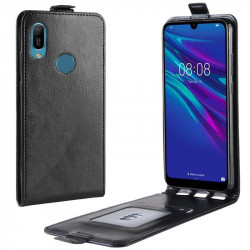 Кожен калъф flip за Huawei Y6 2019 - черен