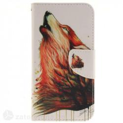 Калъф страничен флип за LG G5 - вълк
