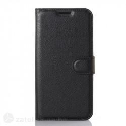 Кожен калъф тип портмоне с кръгло капаче за LG G5 - черен