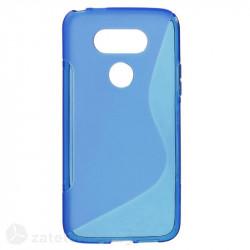 Силиконов калъф за LG G5 със S-образен дизайн - син