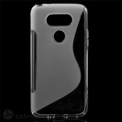Силиконов калъф за LG G5 със S-образен дизайн - прозрачен