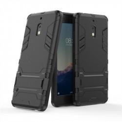 Хибриден гръб със стойка за Nokia 2.1 - черен