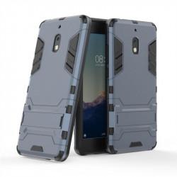 Хибриден гръб със стойка за Nokia 2.1 - тъмно син