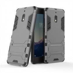 Хибриден гръб със стойка за Nokia 2.1 - сив