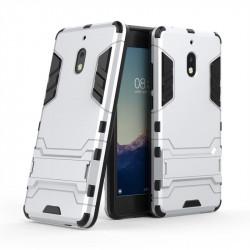 Хибриден гръб със стойка за Nokia 2.1 - бял