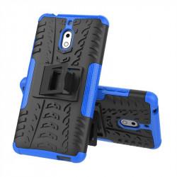 Двупластов гръб със стойка за Nokia 2.1 - син
