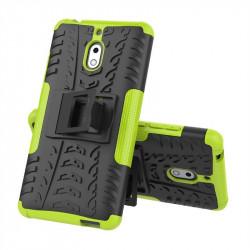 Двупластов гръб със стойка за Nokia 2.1 - зелен