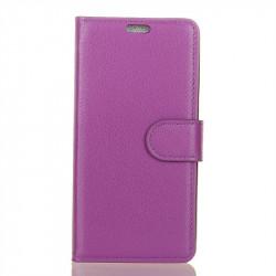Кожен калъф тип портмоне с кръгло капаче за Nokia 2.1 - лилав
