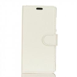 Кожен калъф тип портмоне с кръгло капаче за Nokia 2.1 - бял