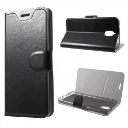 Тънък кожен калъф за Nokia 2.1 – черен