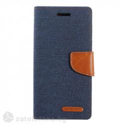 Калъф страничен флип модел GOOSPERY от кожа и текстил, марка Mercury за Samsung Galaxy J7 2017 - тъмно син