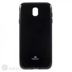 Гланциран силиконов калъф марка Mercury с лъскави частици за Samsung Galaxy J7 2017 – черен