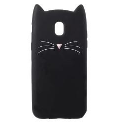 Силиконов калъф за Samsung Galaxy J7 2017 с котка - черен