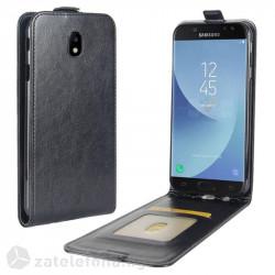 Кожен калъф flip за Samsung Galaxy J7 2017 - черен