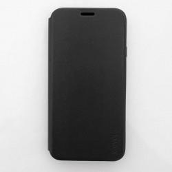Тънък кожен калъф страничен flip марка X-LEVEL за Samsung Galaxy J7 2017 – черен