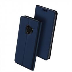 Тънък калъф страничен flip марка DUX DUCIS за Samsung Galaxy S9 – тъмно син